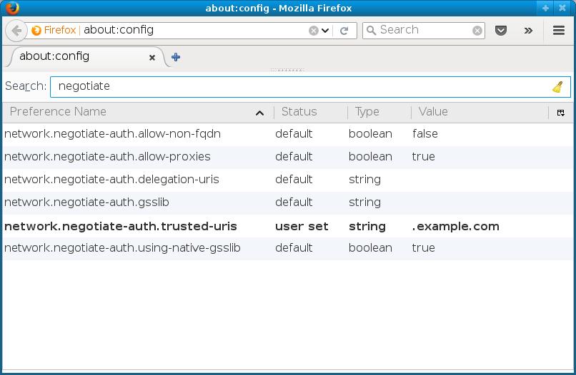 Enabling Kerberos in Firefox for all users